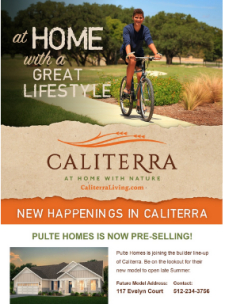 🎉 Caliterra in Dripping Springs is Now Pre-Selling Pulte Homes! Priced from the $300s! 🏘️