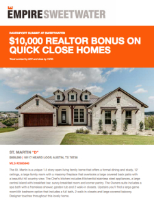 $10,000 Realtor Bonus on Select Quick Move-In's at Sweetwater!*
