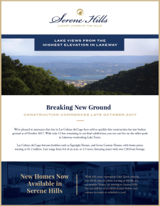 Act Now - Only 12 Lots Remain in Las Colinas del Lago!