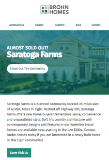 Almost Sold Out - Saratoga Farms!