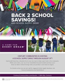 Back 2 School Savings! And School Supply Drive