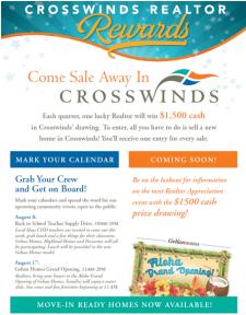 Come Sale Away with Crosswinds!