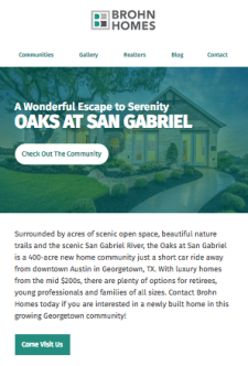 Come Visit Us in the Oaks at San Gabriel!