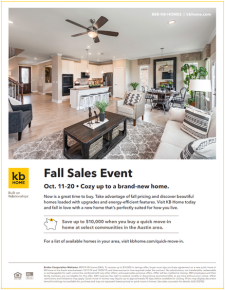 Cozy up to a brand-new home with our Falls Sales Event