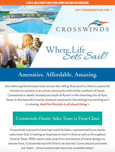 Crosswinds in Kyle is Heating Up! Check Out Our Move-In Ready Homes from the $250s