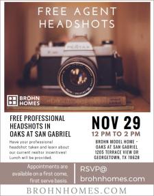 Free Agent Headshots at Brohn Homes!