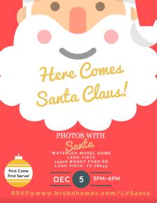 Free Santa Photos at Lago Vista!