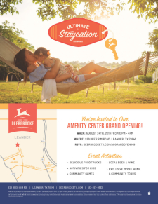 Join us for the Amenity Center Grand Opening in Deerbrooke!