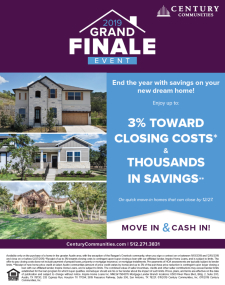 Move In & Cash In During The 2019 Grand Finale Event!