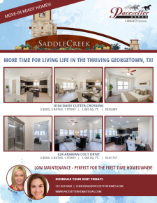 Move-In Ready Homes in the LOW $200's!