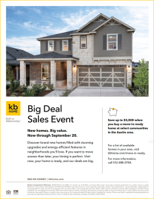 New Homes - Big Value! Through September 20th