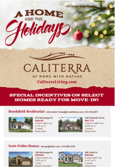 New Homes Ready for the Holidays - Dripping Springs $300s