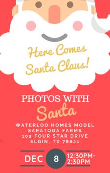 Photos with Santa - Saratoga Farms!