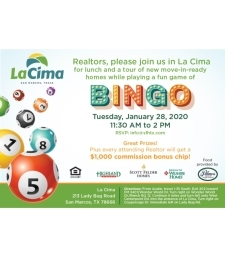 Please join us for Bingo and tour our quick move-in homes!