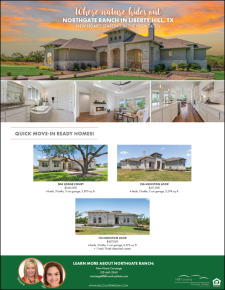 Quick Move-In Homes in Liberty Hill from the $500's