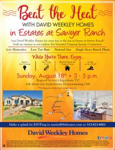 Soak up Summer in Estates at Sawyer Ranch - Enjoy Ice Cream, & Register to Win a Big-Screen TV*