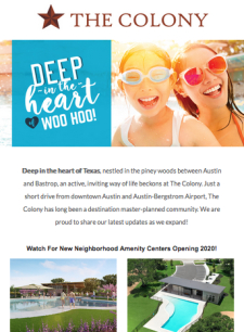 The Colony in Bastrop- Inventory Homes from the $200s