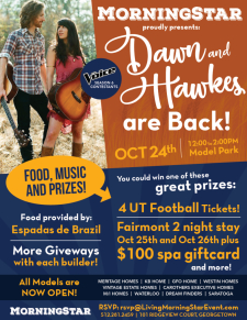 The Voice's Dawn & Hawkes, Food, Prizes & New Models at MorningStar 10/24
