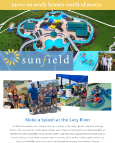Tour 14 Models and Sunfield Lazy River Amenity Center 🏊