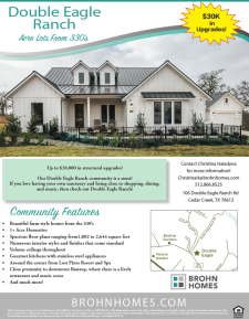 Up to $30,000 in Upgrades in Double Eagle Ranch!