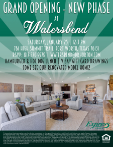 New Phase Grand Opening at Watersbend!
