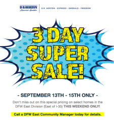 3 Day Super Sale - This Weeked Only!