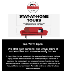 Book Personal or Virtual Tours for Your Clients at Models and Quick Move-In Homes