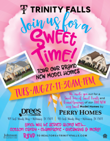 Champagne, Lunch, & Giveaways at Trinity Falls Grand Opening of Two Very Sweet New Model Homes!