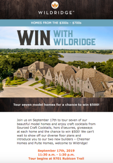 Don't Forget: Model Home Tour to Win Next Week
