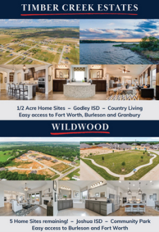 Don't Miss Out on Half Acre Lots at Timber Creek Estates & Joshua ISD at Wildwood
