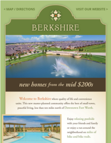 Don't miss the area's best, Award-Winning Builders at Berkshire in Fort Worth