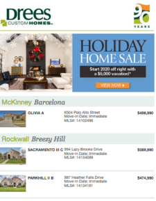 Drees Holiday Home Sale