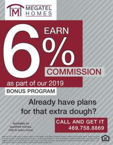 Earn Up To 6% Commission! - 2019 Bonus Program