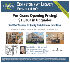 Edgestone at Legacy Pre-Grand Opening Pricing!