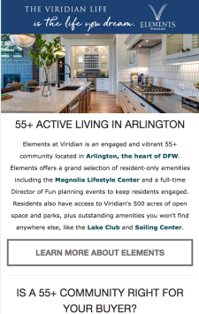Explore Elements at Viridian 55+ Active Living Community