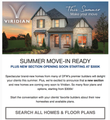 Explore Summer Move-In Ready Homes in the Heart of the Metroplex
