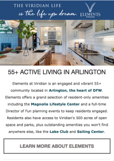 Get to Know Central DFW's New 55+ Community