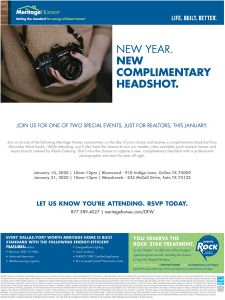 Grab a complimentary professional headshot at Woodcreek