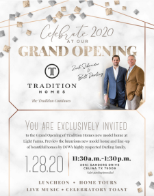 Grand Opening in Light Farms, Tuesday, Jan. 28
