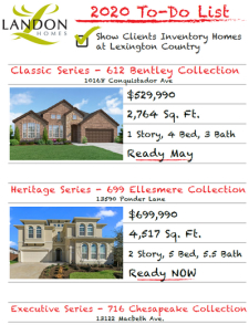 Inventory Homes in Lexington Country