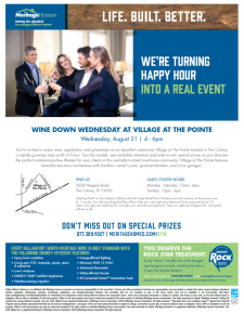 Join Us: Happy Hour at Village at The Pointe