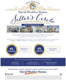 Join the 2020 David Weekley Homes Seller's Circle!