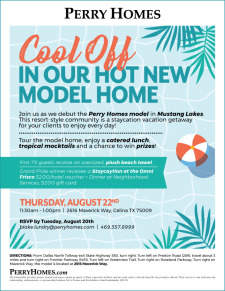 Join us at Mustang Lakes for a Grand Opening on 8/22! Catered lunch, tropical drinks, and more!