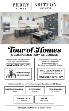 Join us for a Tour of Homes | Prizes | Complimentary CE Course