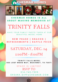 Make Memories with Chesmar Homes at Trinity Falls