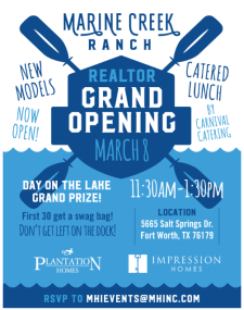 Marine Creek Ranch Grand Opening - Catered Lunch & Prizes!