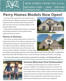 New Models Open in Ventana in Fort Worth – Homes from $270s+