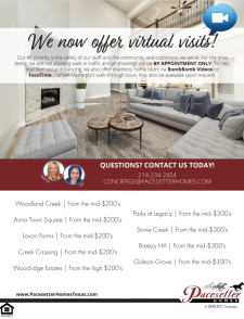 Now Offering Virtual Visits!