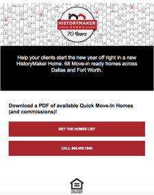 Over $970,000 in Available Commission Across DFW | HistoryMaker Homes