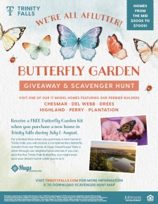 Purchase a New Home and Get A Butterfly Garden 🌸
